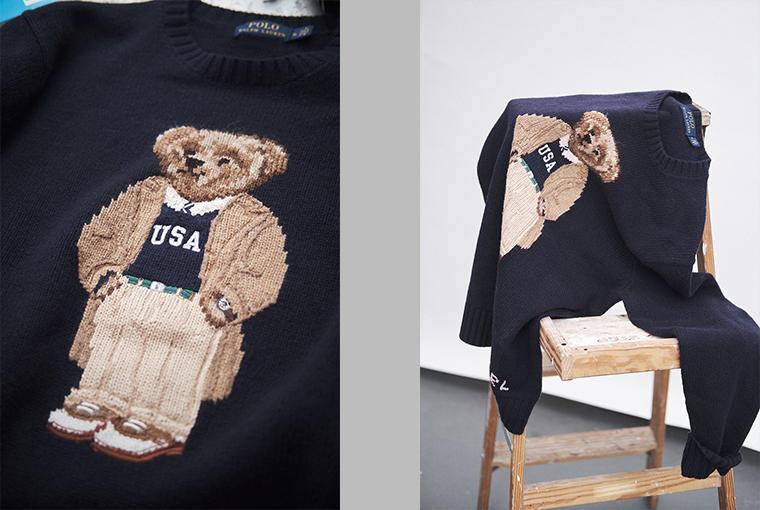 Ralph Lauren Collegiate Bear süveter