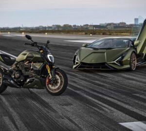 Ducati x Lamborghini Diavel 1260 motosiklet