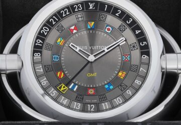 Louis Vuitton Tambour Moon Dual Time seyahat saati