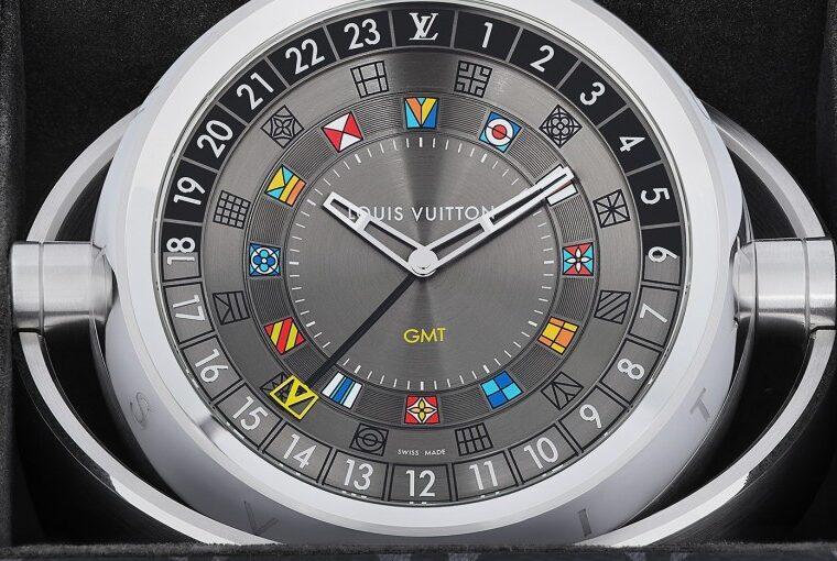 Louis Vuitton Tambour Moon Dual Time seyahat saati